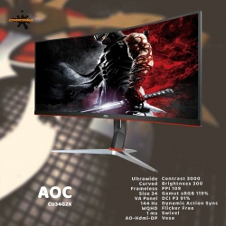 AOC CU34G2X CURVED GAMING WQHD 144HZ 1 MS