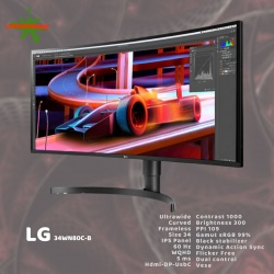 LG 34WN80C-B IPS ULTRAWIDE CURVED WQHD
