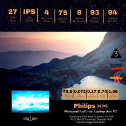 PHILIPS 241V8/70 FRAMELESS 75HZ IPS PANEL