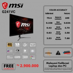 MSI G241VC CURVED GAMING 1MS 75HZ