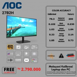 AOC 27B2H 75HZ FRAMELESS