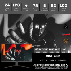 MSI OPTIX G241V 75HZ FRAMELESS GAMING